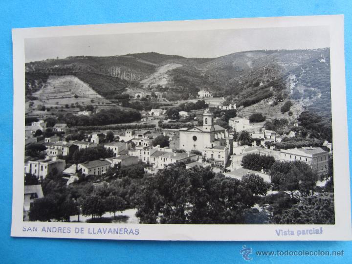 SAN ANDRES DE LLAVANERAS , VISTA PARCIAL , CICULADA (Postales - España - Cataluña Moderna (desde 1940))