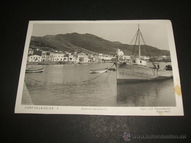 PORT DE LA SELVA GERONA GIRONA DETALLE DEL PUERTO (Postales - España - Cataluña Antigua (hasta 1939))