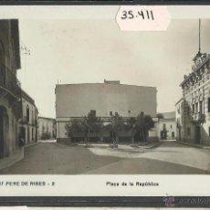 Cartoline: SANT PERE DE RIBES - PLAÇA DE LA REPUBLICA - FOTOGRAFICA - (35411). Lote 51126751