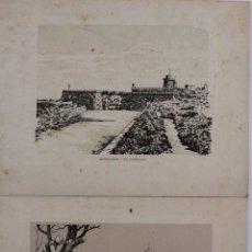 Postales: FG-372.GRABADOS CASTILLO DE MONTJUICH Y PABELLON TIBIDABO(18888). ROLDÓS PUBLICIDAD. 1959 Y 1960.. Lote 51133206