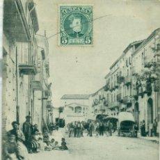 Postales: ARTESA DE SEGRE. CALLE CARRETERA DE AGRAMUNT. CIRCULADA EN 1904.DOBLE FRANQUEO MIXTO.. Lote 51173742