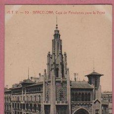 Postales: BUENA POSTAL DE BARCELONA A.T.V. 50 - CAJA DE PENSIONES PARA LA VEJEZ - LA CAIXA. Lote 51201291