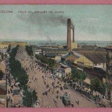 Postales: MUY BUENA POSTAL DE BARCELONA - CARTÓN DURO - LA VIEJA CALLE DEL MARQUES DEL DUERO Nº 39 SAMSOT. Lote 51249583