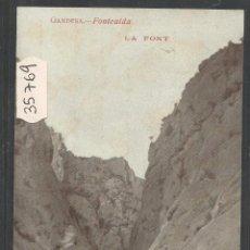 Postales: GANDESA - FONTCALDA - LA FONT - (35769). Lote 51356023