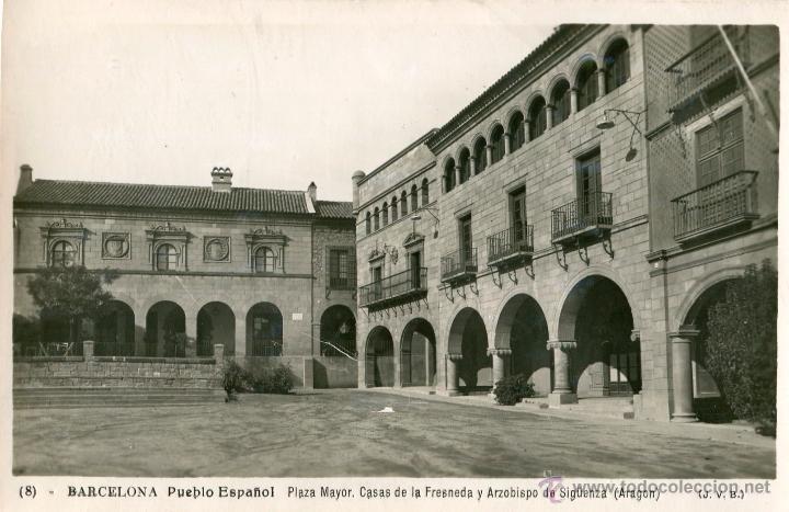 Barcelona pueblo espa ol plaza mayor casas de comprar postales antiguas de catalu a en - Casas de subastas en barcelona ...