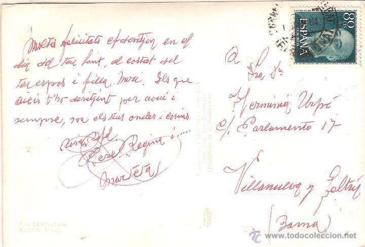 Postales: CORNELLA (BARCELONA), RAMBLA CLAVE - EXCLUSIVAS CARRASCO Nº 5 EDIT. FIR - CIRCULADA - Foto 2 - 51691053