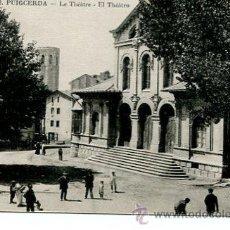 Postales: PUIGCERDA-EL TEATRO- ANIMADA. Lote 51734519