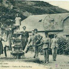 Postales: VALLE DE ARAN. CASINO DE PUENTE DEL REY. FRONTERA FRANCESA.CARABINEROS. CIRCULADA EN 1924.. Lote 51774394