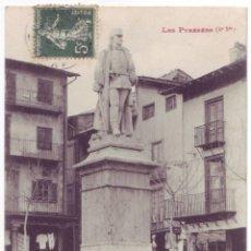 Postales: PUIGCERDÁ (GERONA): ESTATUA CABRINETTI. PHOTOTYPIE LABOUCHE FRÈRES. CIRCULADA (1907). Lote 51799669