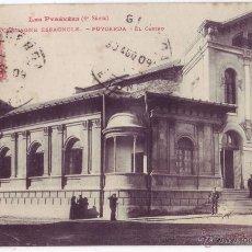 Postales: PUIGCERDÁ (GERONA) : EL CASINO. PHOTOTYPIE LABOUCHE FRÈRES. CIRCULADA (1909). Lote 51799773