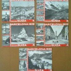 Postales: LOTE CINCO POSTALES EXPOSICION INTERNACIONAL DE BARCELONA 1929 SECCION SUIZA. Lote 51818047