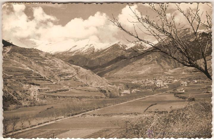 BAGA (BARCELONA), VISTA GENERAL - FOTO DESEURAS Nº G.42 - CIRCULADA (Postales - España - Cataluña Moderna (desde 1940))