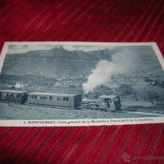 Postales: POSTAL MONSERRAT VISTA GENERAL DE LA MONTAÑA Y FERROCARRIL CREMALLERA. Lote 51884331