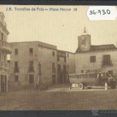 Postales: TORRELLES DE FOIX - J.B. 10 - PLAÇA MAJOR - COCHE - FOTOGRAFICA - (36730). Lote 51963945