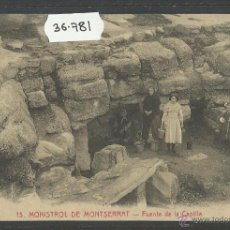 Postales: MONISTROL DE MONTSERRAT - 13 - FONT DE LA CAPELLA - ROISIN - (36781). Lote 51982485