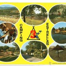 Postales: CAMPING TRES ESTRELLAS POSTAL DE 1976 CIRCULADA CON SELLO Y MATASELLOS DE PRAT. Lote 52230688