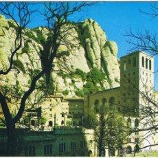 Postales: BARCELONA - MONTSERRAT - EL MONASTERIO - CIRCULADA. Lote 52414285