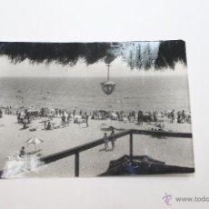Postales: POSTAL DE MONGAT, PLAYA ANIMADA, BARCELONA 1962. Lote 52441742