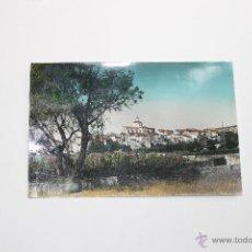 Postales: POSTAL DE MONTROIG VISTA PARCIAL COLOREADA 1965, TARRAGONA. Lote 52441871