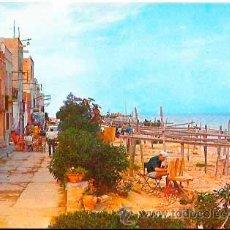 Postales: TARRAGONA CASAS DE ALCANAR CALLE LEPANTO Y PLAYA. ED. F. CASTELL ARASA. ESCRITA. Lote 53024719