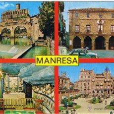 Postales: BARCELONA - MANRESA - CAPITAL DEL BAGES. Lote 52525540