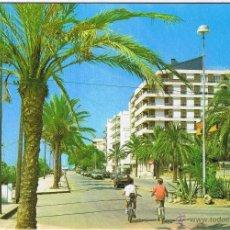 Postales: BARCELONA - PINEDA DE MAR - PASEO DE LAS MELIAS - CIRCULADA. Lote 52527708