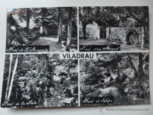 VILADRAU. DETALLE FUENTES. ED. A. ZERKOWITZ (Postales - España - Cataluña Moderna (desde 1940))