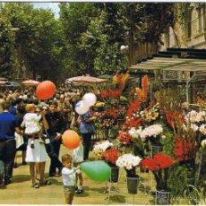 Postales: BARCELONA - RAMBLA DE LAS FLORES - CIRCULADA. Lote 52632673