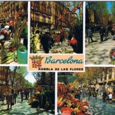 Postales: BARCELONA - RAMBLA DE LAS FLORES - CIRCULADA. Lote 52632690