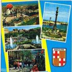 Postales: BARCELONA - DIVERSAS VISTAS - CIRCULADA. Lote 52633386