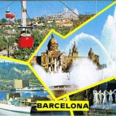 Postales: BARCELONA - DIVERSAS VISTAS - CIRCULADA. Lote 52633395