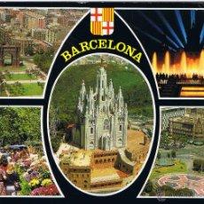 Postales: BARCELONA - DIVERSAS VISTAS - CIRCULADA. Lote 52633406