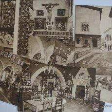 Postales: LOTE DE 9 EJEMPLARES. CAU FERRAT DE SITGES. SANTIAGO RUSIÑOL. CLIXÉ DE LA JUNTA DE MUSEOS.. Lote 52633897