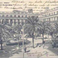 Postales: BARCELONA, HAUSER Y MENET 637, PLAZA REAL CON FAROLA EN PRIMER PLANO. Lote 52650738