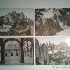 Postales: LOTE DE 4 POSTALES ANTIGUAS DE MONTSERRAT. BARCELONA.. Lote 52661564