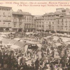 Postales: VICH Nº23 PLAZA MAYOR /DIA DE MERCADO) PORTICOS PALMAROLA SIN CIRCULAR . Lote 52701047