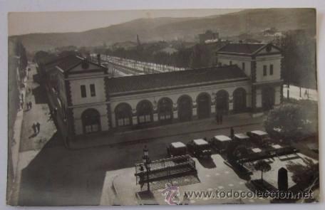 ANTIGUA POSTAL FOTOGRAFICA DE TARRASA / TERRASSA - ESTACION DEL F.C. DE CATALUÑA (Postales - España - Cataluña Antigua (hasta 1939))