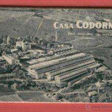 Postales: CASA CODORNÍU SAN SADURNI DE NOYA AÑO 1919 10 POSTALES P1594. Lote 52723413