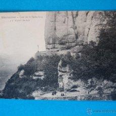 Postales: ANTIGUA POSTAL DE MONTSERRAT- CAMI DE LA SANTA COVA Y 5R MISTERI DE DOLÓ - L. ROCA .. R - 374. Lote 52725733