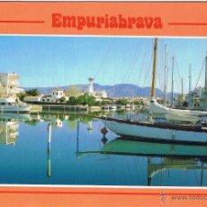 Postales: GERONA - AMPURIAS - EMPURIABRAVA - CIRCULADA. Lote 52829724