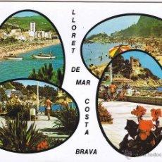 Postales: GERONA - LLORET DE MAR - CIRCULADA. Lote 52876632