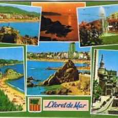 Postales: GERONA - LLORET DE MAR - CIRCULADA. Lote 52876642