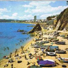 Postales: GERONA - LLORET DE MAR - PLAYA SA CALETA - CIRCULADA. Lote 52876926