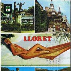 Postales: GERONA - LLORET DE MAR - CIRCULADA. Lote 52876972