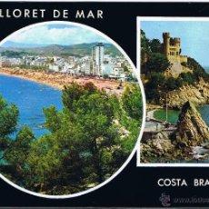 Postales: GERONA - LLORET DE MAR - CIRCULADA. Lote 52877433