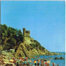 Postales: GERONA - LLORET DE MAR - SA CALETA - CASTTILLO - CIRCULADA. Lote 52877561