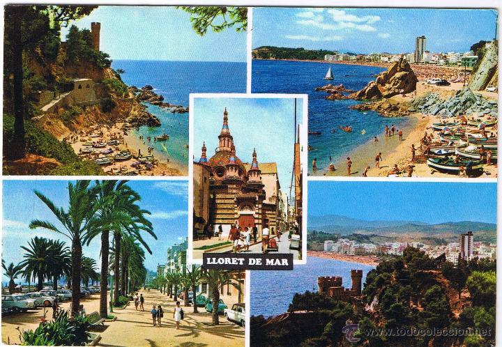 GERONA - LLORET DE MAR - CIRCULADA (Postales - España - Cataluña Moderna (desde 1940))