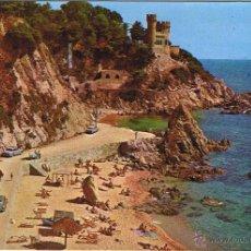 Postales: GERONA - LLORET DE MAR - SA CALETA - CASTILLO - CIRCULADA. Lote 52878369