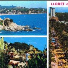 Postales: GERONA - LLORET DE MAR - CIRCULADA. Lote 52878459
