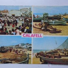 Postales: CALAFELL (BAIX PENEDÈS). COSTA DORADA. COSTA DAURADA. FOTO COLOR RAYMOND. AÑOS 60'S. Lote 52890625